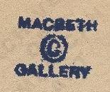 Macbeth Gallery Label