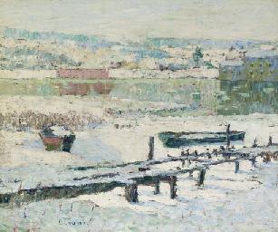 Macbeth Gallery Ernest Lawson-River in Winter