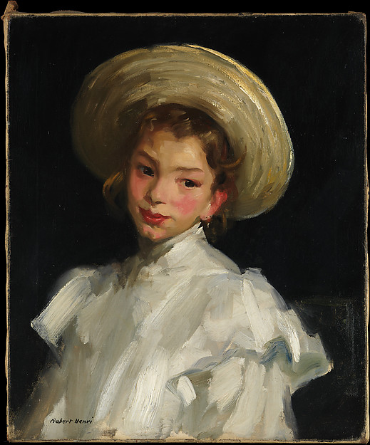 Macbeth Gallery Robert Henri Dutch Girl in White Hat